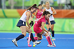 Hazuki Nagai (JPN), <br /> AUGUST 11, 2016 - Hockey : <br /> Women's Pool Match <br /> between Japan Women's 0-2 Great Britain Women's <br /> at Olympic Hockey Centre <br /> during the Rio 2016 Olympic Games in Rio de Janeiro, Brazil. <br /> (Photo by YUTAKA/AFLO SPORT)
