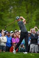 Jordan Spieth (USA) watches his tee shot on 6 during round 4 of the 2019 PGA Championship, Bethpage Black Golf Course, New York, New York,  USA. 5/19/2019.<br /> Picture: Golffile | Ken Murray<br /> <br /> <br /> All photo usage must carry mandatory copyright credit (© Golffile | Ken Murray)