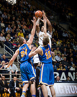 Richard Solomon of California shoots the ball during the game against UCLA at Haas Pavilion in Berkeley, California on February 14th, 2013.   California defeated UCLA, 77-63.