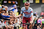 José Gonçalves (POR) Team Katusha Alpecin arrives at sign on before Stage 6 of the 2019 Tour de France running 160.5km from Mulhouse to La Planche des Belles Filles, France. 11th July 2019.<br /> Picture: ASO/Pauline Ballet | Cyclefile<br /> All photos usage must carry mandatory copyright credit (© Cyclefile | ASO/Pauline Ballet)