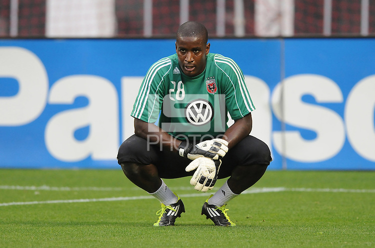 D.C. United goalkeeper Bill Hamid (28) File photo RFK stadium 2011 season.