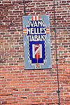 Van Nelle's tobacco old advertising sign, Zuiderzee museum, Enkhuizen, Netherlands