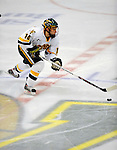 1 February 2008: University of Vermont Catamounts' forward Brian Roloff, a Sophomore from West Seneca, NY, in action against the University of New Hampshire Wildcats at Gutterson Fieldhouse in Burlington, Vermont. The seventh-ranked Wildcats defeated the Catamounts 5-1in front of a sellout crowd of 4,003...Mandatory Photo Credit: Ed Wolfstein Photo