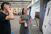"Katherine Dews presents, ""Eating Behavior of Rats: How Complex Foods Relate to Emotionality""<br /> Mentors: Nancy Dess and Dale Chapman, Psychology<br /> Occidental College's Undergraduate Research Center hosts their annual Summer Undergraduate Research Conference on July 31, 2019. Student researchers presented their work as either oral or poster presentations at this final conference. The program lasts 10 weeks and involves independent research in all departments.<br /> (Photo by Marc Campos, Occidental College Photographer)"