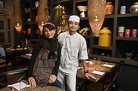Europe/France/Bretagne/35/Ille et Vilaine/ Dinard: Restaurant: Le Resto Thaï, Orathaï Méril et son chef: Udorn Kawelekla