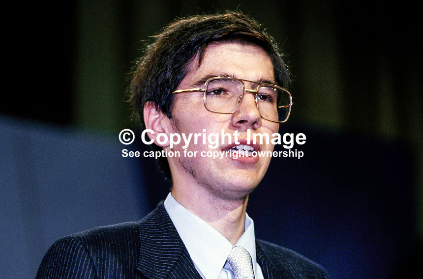 Andrew Patterson, youngest heart transplant patient, speaking at Annual Conference, UK Conservative Party, in Brighton. 198010000316.  ..Copyright Image from Victor Patterson, 54 Dorchester Park, Belfast, UK, BT9 6RJ..Tel: +44 28 9066 1296.Mob: +44 7802 353836.Voicemail +44 20 8816 7153.Skype: victorpattersonbelfast.Email: victorpatterson@mac.com.Email: victorpatterson@ireland.com (back-up)..IMPORTANT: If you wish to use this image or any other of my images please go to www.victorpatterson.com and click on the Terms & Conditions. Then contact me by email or phone with the reference number(s) of the image(s) concerned.