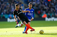 1st February 2020; King Power Stadium, Leicester, Midlands, England; English Premier League Football, Leicester City versus Chelsea; Cesar Azpilicueta of Chelsea on the ball