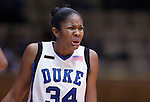 21 December 2007: Duke's Krystal Thomas. The Duke University Blue Devils defeated the Bucknell University Bisons 92-49 at Cameron Indoor Stadium in Durham, North Carolina in an NCAA Division I Women's College Basketball game.