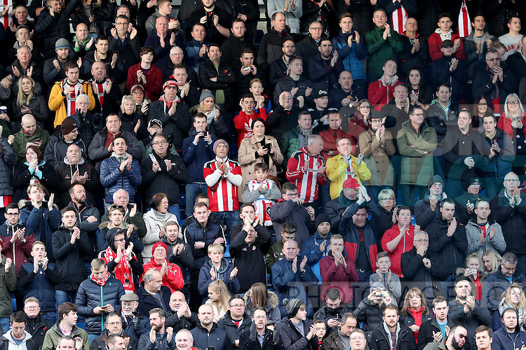 Sheffield United fans for fans gallery during the English Football League One match at Proact Stadium, Chesterfield. Picture date: November 13th, 2016. Pic Jamie Tyerman/Sportimage