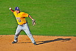 19 April 2009: University at Albany Great Danes' infielder Joe Ilacqua, a Freshman from Liverpool, NY, in action against the University of Vermont Catamounts at Historic Centennial Field in Burlington, Vermont. The Great Danes defeated the Catamounts 9-4 in the second game of a double-header. Sadly, the Catamounts are playing their last season of baseball, as the program has been marked for elimination due to budgetary constraints on the University. Mandatory Photo Credit: Ed Wolfstein Photo