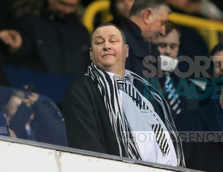 Newcastle's Mike Ashley looks on<br /> <br /> Barclays Premier League- Tottenham Hotspur vs Newcastle United - White Hart Lane - England - 13th December 2015 - Picture David Klein/Sportimage