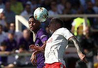 Calcio, Serie A: Fiorentina - Juventus, stadio Artemio Franchi Firenze 14 settembre 2019<br /> Juventus' Federico Bernardeschi (r) in action with Fiorentina's Dalbert (l) during the Italian Serie A football match between Fiorentina and Juventus at Florence's Artemio Franchi stadium, September 14, 2019. <br /> UPDATE IMAGES PRESS/Isabella Bonotto