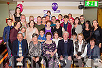 Looking 79<br /> ---------------<br /> Breda Curren, Tralee, seated centre celebrated her 80th birthday last Saturday night in Gally's bar, Tralee along with family and friends.
