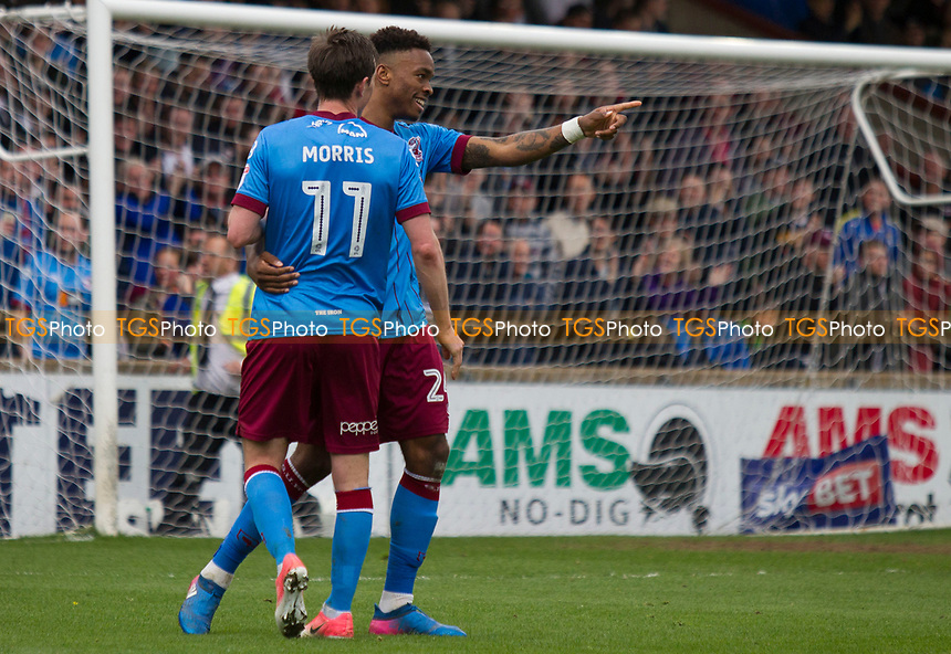 Ivan Toney of Scunthorpe scores the 3rd goal during Scunthorpe United vs Chesterfield, Sky Bet EFL League 1 Football at Glanford Park on 17th April 2017