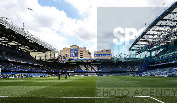 Chelsea's thank you banner during the Premier League match at Stamford Bridge Stadium, London. Picture date: May 18th, 2017. Pic credit should read: David Klein/Sportimage