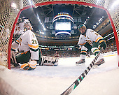 Joe Fallon (Vermont - 29), Corey Carlson (Vermont - 13) - The Boston College Eagles defeated the University of Vermont Catamounts 4-0 in the Hockey East championship game on Saturday, March 22, 2008, at TD BankNorth Garden in Boston, Massachusetts.