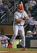 August 21, 2003:  Damon Minor of the Scranton Wilkes-Barre Red Barons, Class-AAA affiliate of the Philadelphia Phillies, during a International League game at Frontier Field in Rochester, NY.  Photo by:  Mike Janes/Four Seam Images