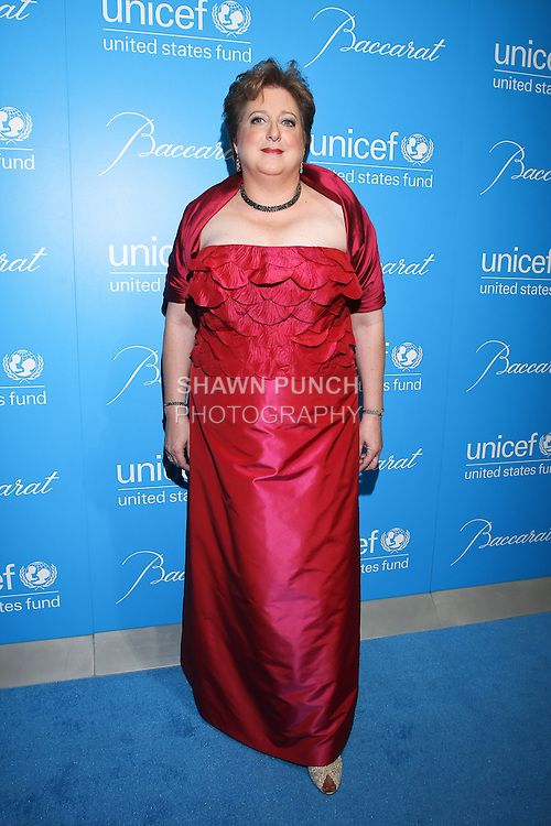 Caryl Stern, President and CEO of the U.S. Fund for UNICEF, arrives at the UNICEF Snowflake Ball, Presented by Baccarat, at Cipriani 42nd Street, November 30, 2010.