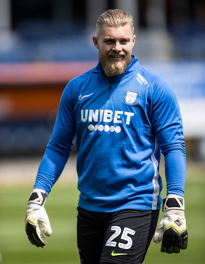 Preston North End's Connor Ripley warming up before the match <br /> <br /> Photographer Andrew Kearns/CameraSport<br /> <br /> The EFL Sky Bet Championship - Luton Town v Preston North End - Saturday 20th June 2020 - Kenilworth Road - Luton<br /> <br /> World Copyright © 2020 CameraSport. All rights reserved. 43 Linden Ave. Countesthorpe. Leicester. England. LE8 5PG - Tel: +44 (0) 116 277 4147 - admin@camerasport.com - www.camerasport.com