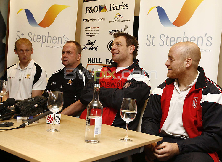 Pix:Victoria Matthers/SWpix.com. Rugby League Super League. Press Conference ahead of the Hull derby clash between Hull FC and Hull KR..copyright picture>>simon wilkinson>>07811267706>>....Hull coach Justin Morgan.