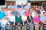 Golf: Mike Sugrue(seated 2nd from the Lt)from Farmers Bridge Tralee,was the overall winner of the Gallys bar/restaurant golf society Captains prize with 36pts played at Charleville golf course last Saturday.