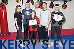 Winners - Tralee School of Martial Arts sent a team of six kick-boxers to a National Kickboxing Event held in The Black Dragon Martial Arts Club last Saturday (27th Feb) and all six came home with Gold Medals. Front Tara McGinty (U14), back l/r Naomi O'Brien (Snr), Peter O'Donoghue (Snr), Mike Allen (Prop.Tralee School of Martial Arts), David Garbanowski (U18) and Rory McNamara (U14)..................................................................................................................................................................................................................................................................................................... ............