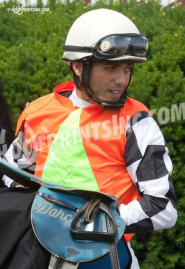 Luis Garcia winning at Delaware Park on 7/11/13