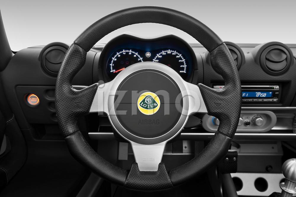 Steering wheel view of a 2009 Lotus Elise SC 2 Door Convertible