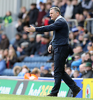 Blackburn Rovers manager Tony Mowbray issues instructions to his team from the technical area <br /> <br /> Photographer Rich Linley/CameraSport<br /> <br /> The EFL Sky Bet Championship - Blackburn Rovers v Preston North End - Saturday 9th March 2019 - Ewood Park - Blackburn<br /> <br /> World Copyright © 2019 CameraSport. All rights reserved. 43 Linden Ave. Countesthorpe. Leicester. England. LE8 5PG - Tel: +44 (0) 116 277 4147 - admin@camerasport.com - www.camerasport.com