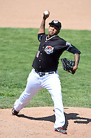 Erie SeaWolves pitcher Wilsen Palacios (51) delivers a pitch during a game against the Akron RubberDucks on May 18, 2014 at Jerry Uht Park in Erie, Pennsylvania.  Akron defeated Erie 2-1.  (Mike Janes/Four Seam Images)
