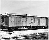 D&amp;RGW cook car #053 with archbar trucks.  Car used with rotary OY.<br /> D&amp;RGW  Chama, NM  Taken by Payne, Andy M. - 1/31/1971