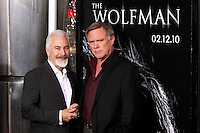 Creature designer Rick Baker and director Joe Johnston arrive at the US/LA premiere of 'The Wolfman' in Los Angeles, California 09 February 2010. Upon his return to his ancestral homeland, an American man (Del Toro) is bitten, and subsequently cursed by, a werewolf..Photo by Nina Prommer/Milestone Photo