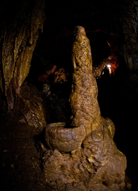 &quot;Caves have been modified to house temples dedicated to Xibalba.&quot; de Anda said.<br /> Deep in a cave near M&egrave;rida, a stalagmite grows out of the side of a mayan cup, estimated to be between 600 and 800 years old.