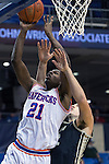 Texas-Arlington Mavericks forward Greg Gainey (21) in action during the game between the Idaho Vandals and the Texas Arlington Mavericks at the College Park Center arena in Arlington, Texas. Idaho defeats Arlington 77 to 64....