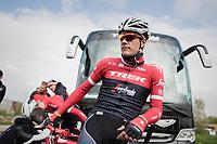 Jasper Stuyven (BEL/Trek-Segafredo)<br /> <br /> Team Trek-Segafredo during their 2017 Paris-Roubaix recon, 3 days prior to the event.