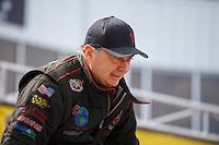 May 15, 2016; Commerce, GA, USA; NHRA top fuel driver Scott Palmer during the Southern Nationals at Atlanta Dragway. Mandatory Credit: Mark J. Rebilas-USA TODAY Sports