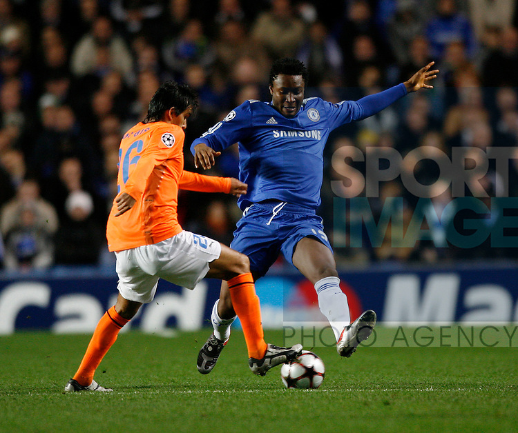 Chelsea's Mikel in action