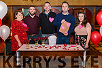 """Secret Eaters The Love Restaurant """"First Dates without the shame"""" took place in the Killarney Avenue Hotel last friday night. Pictured are l-r Maeve Holly, Brian O'Donoghue, Alan O'Connor, John Martin Carroll (matchmaker) and Emma Cronin."""
