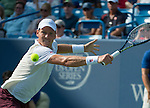 Tomas Berdych (CZE) loses in the semis to Rafael Nadal (ESP), 7-5, 7-6 at the Western & Southern Open in Mason, OH on August 17, 2013.
