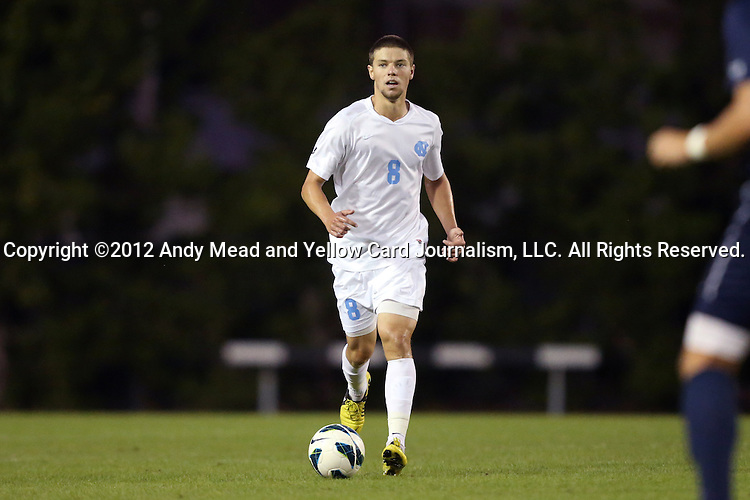 02 October 2012: UNC's Martin Murphy. The University of North Carolina Tar Heels defeated the Georgia Southern Eagles 2-0 at Fetzer Field in Chapel Hill, North Carolina in a 2012 NCAA Division I Men's Soccer game.