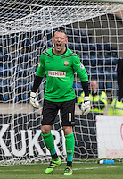 Goalkeeper Graham Stack of Barnet during the Sky Bet League 2 match between Wycombe Wanderers and Barnet at Adams Park, High Wycombe, England on 16 April 2016. Photo by Andy Rowland.