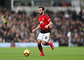 9th February 2019, Craven Cottage, London, England; EPL Premier League football, Fulham versus Manchester United; Juan Mata of Manchester United in action