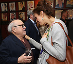 Danny DeVito and Jessica Hecht attends the Todd Haimes' Sardi's Caricature Unveiling at Sardi's  on June 7, 2017 in New York City.