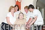 YOUNG AT HEART: Catherine Moynihan, Glennagalt, Camp, Tralee, looking wonderful on her 95th Birthday surrounded by her nurses at The Oakland Nursing Home, Derry, Listowel, on Sunday. Photographed with Catherine were, Mairead Sugrue, Mary ODonoghue, Liz Dalton, Lena OSullivan..