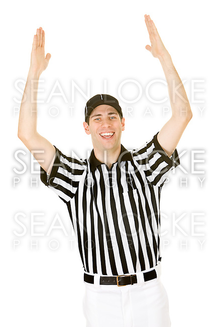 Low Angle Of Referee Signaling A Touchdown Stock Photo | Getty Images