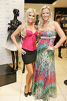 6/7/2010. Claudine Keane wife of footballer Robbie Keane is pictured with Michelle Mone OBE, creator of Adore Moi by Ultimo in Debenhams, Henry Street Dublin to launch Adore Moi by Ultimo. Picture James Horan/Collins Photos