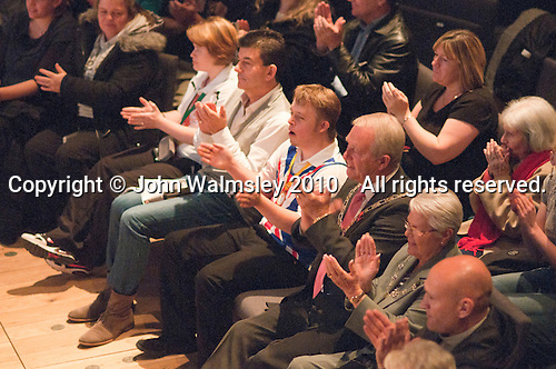 "Special guests, local dignitaries and actor, John Altman, ""Nasty Nick"" from TV's ""East Enders"", watching the show.  Special Olympics Surrey put on a show,   ""Beyond the Stars"", at the Rose Theatre, Kingston upon Thames to raise money for the  SOGB team.  The Special Olympics are for athletes with learning disabilities."