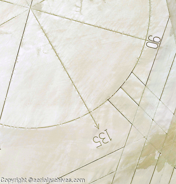 aerial compass rose Edwards Air Force Base California