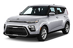 2020 KIA Soul S 5 Door Hatchback Angular Front automotive stock photos of front three quarter view