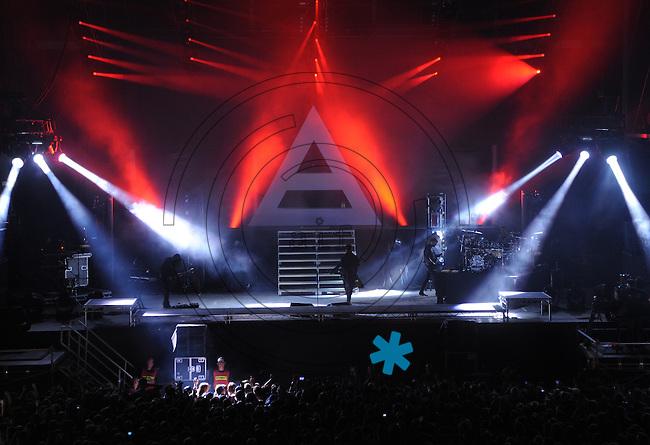 Highfield-Festival 2011 am Störmthaler See. im Bild: Headliner 30 Seconds to Mars mit Jared Leto.  Foto: Alexander Bley